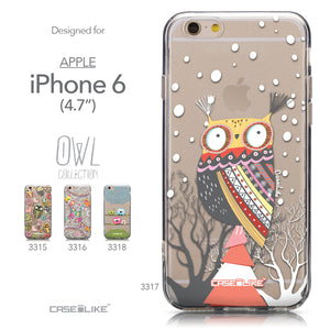 Collection - CASEiLIKE Apple iPhone 6 back cover Owl Graphic Design 3317