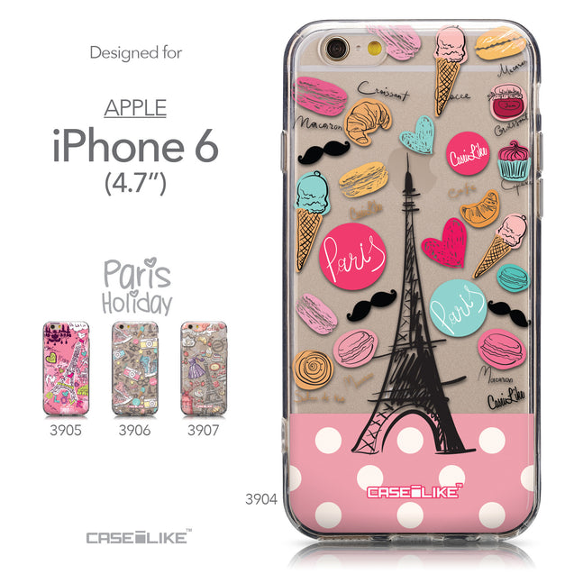 Collection - CASEiLIKE Apple iPhone 6 back cover Paris Holiday 3904