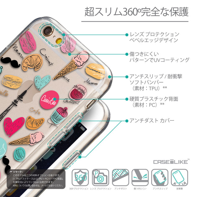 Details in Japanese - CASEiLIKE Apple iPhone 6 back cover Paris Holiday 3904