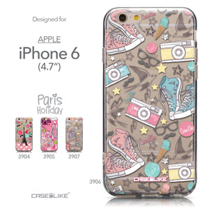 Collection - CASEiLIKE Apple iPhone 6 back cover Paris Holiday 3906