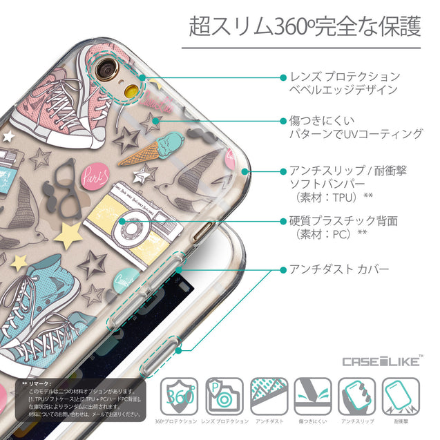 Details in Japanese - CASEiLIKE Apple iPhone 6 back cover Paris Holiday 3906