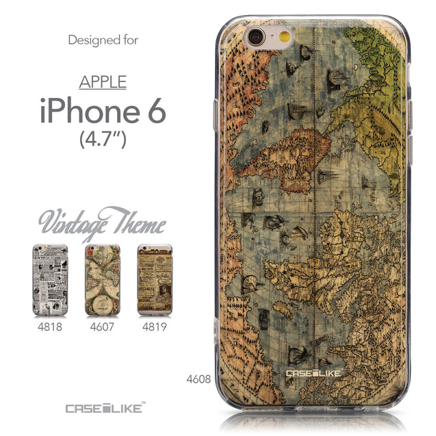 Collection - CASEiLIKE Apple iPhone 6 back cover World Map Vintage 4608