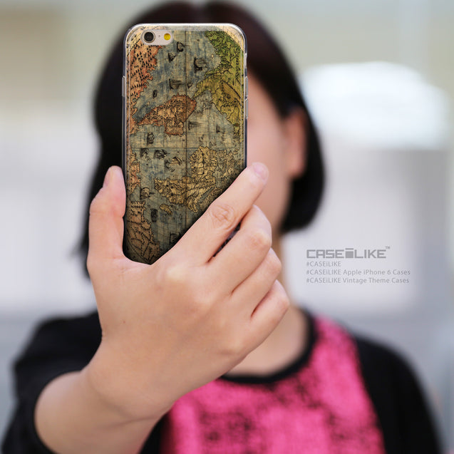 Share - CASEiLIKE Apple iPhone 6 back cover World Map Vintage 4608