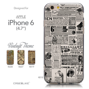 Collection - CASEiLIKE Apple iPhone 6 back cover Vintage Newspaper Advertising 4818