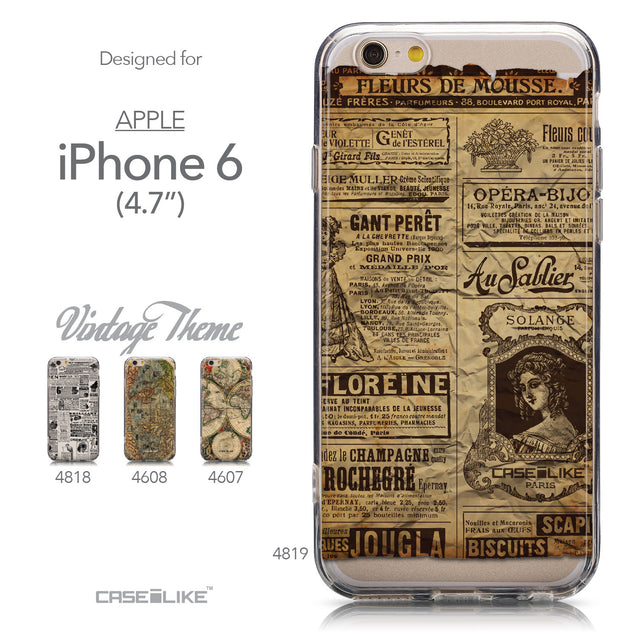 Collection - CASEiLIKE Apple iPhone 6 back cover Vintage Newspaper Advertising 4819
