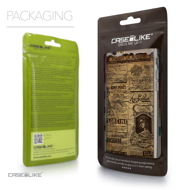 Packaging - CASEiLIKE Apple iPhone 6 back cover Vintage Newspaper Advertising 4819