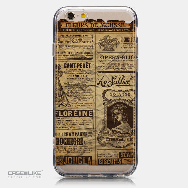 CASEiLIKE Apple iPhone 6 back cover Vintage Newspaper Advertising 4819