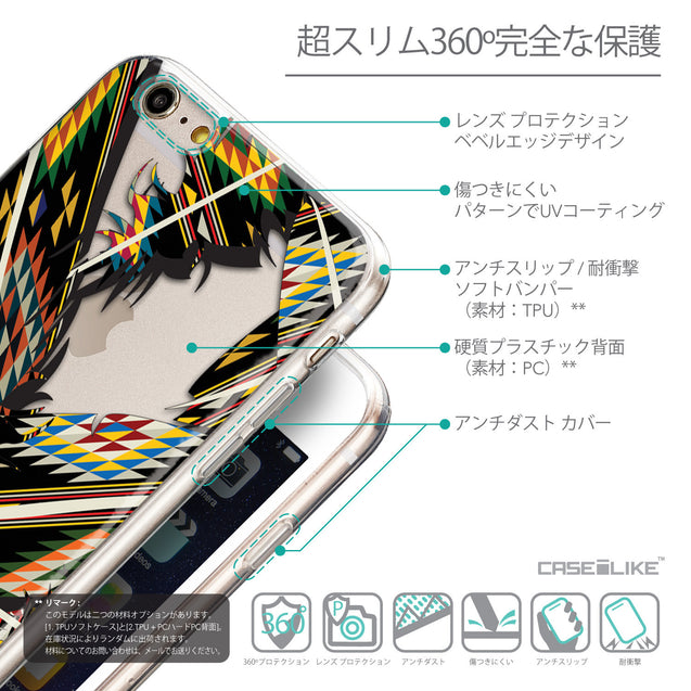 Details in Japanese - CASEiLIKE Apple iPhone 6 Plus back cover Indian 2053 Tribal Theme Pattern