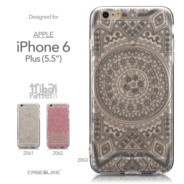 Collection - CASEiLIKE Apple iPhone 6 Plus back cover Indian Line Art 2063