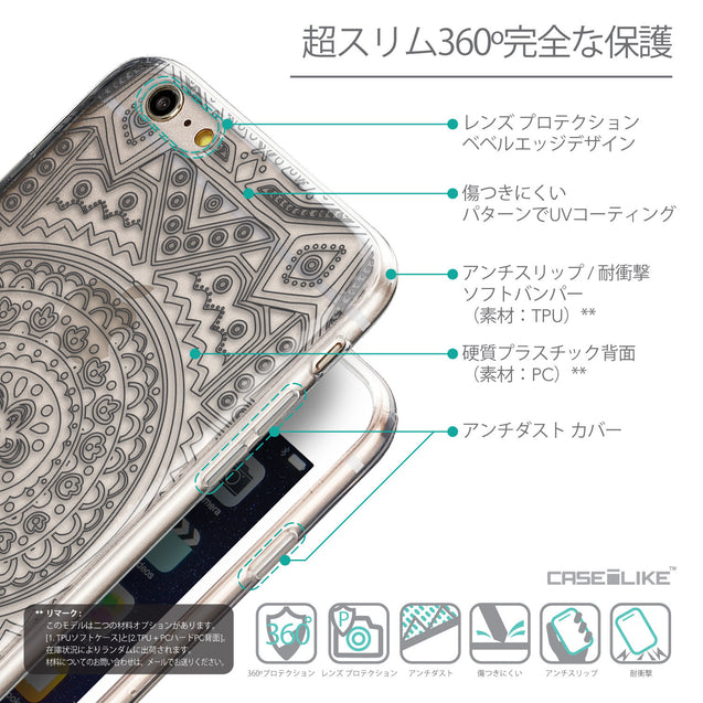 Details in Japanese - CASEiLIKE Apple iPhone 6 Plus back cover Indian Line Art 2063