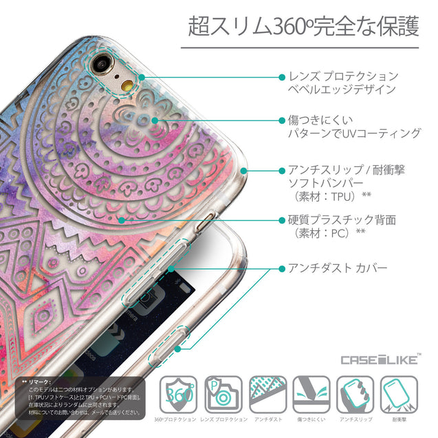 Details in Japanese - CASEiLIKE Apple iPhone 6 Plus back cover Indian Line Art 2065