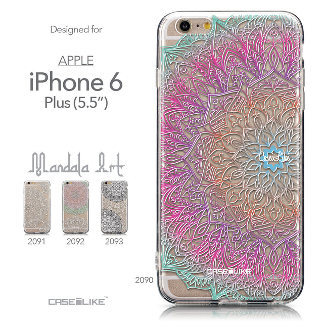 Collection - CASEiLIKE Apple iPhone 6 Plus back cover Mandala Art 2090