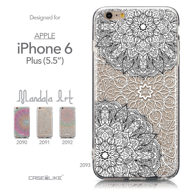 Collection - CASEiLIKE Apple iPhone 6 Plus back cover Mandala Art 2093