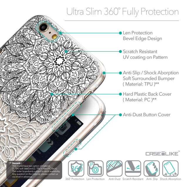 Details in English - CASEiLIKE Apple iPhone 6 Plus back cover Mandala Art 2093