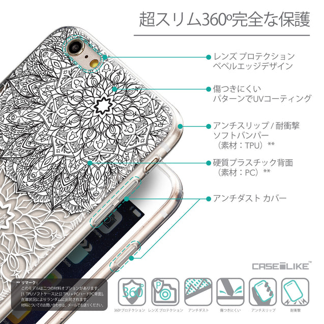 Details in Japanese - CASEiLIKE Apple iPhone 6 Plus back cover Mandala Art 2093