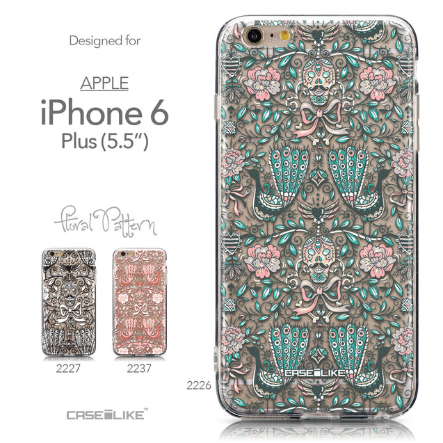 Collection - CASEiLIKE Apple iPhone 6 Plus back cover Roses Ornamental Skulls Peacocks 2226