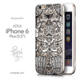 Front & Side View - CASEiLIKE Apple iPhone 6 Plus back cover Roses Ornamental Skulls Peacocks 2227