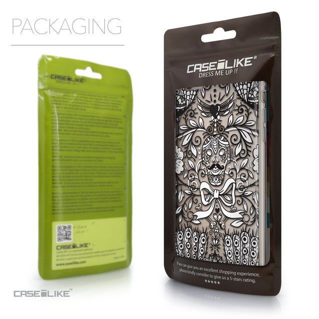 Packaging - CASEiLIKE Apple iPhone 6 Plus back cover Roses Ornamental Skulls Peacocks 2227