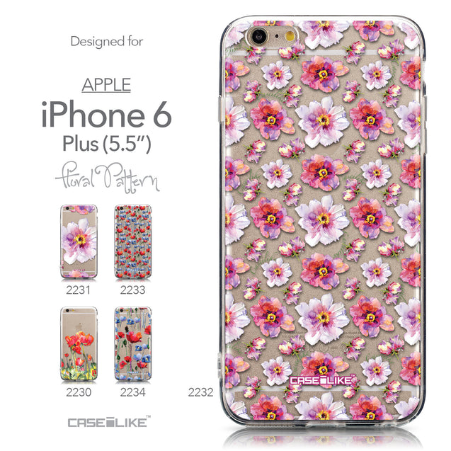 Collection - CASEiLIKE Apple iPhone 6 Plus back cover Watercolor Floral 2232