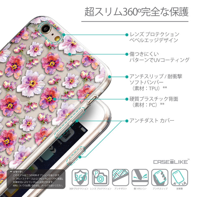 Details in Japanese - CASEiLIKE Apple iPhone 6 Plus back cover Watercolor Floral 2232