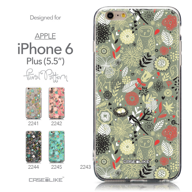 Collection - CASEiLIKE Apple iPhone 6 Plus back cover Spring Forest Gray 2243