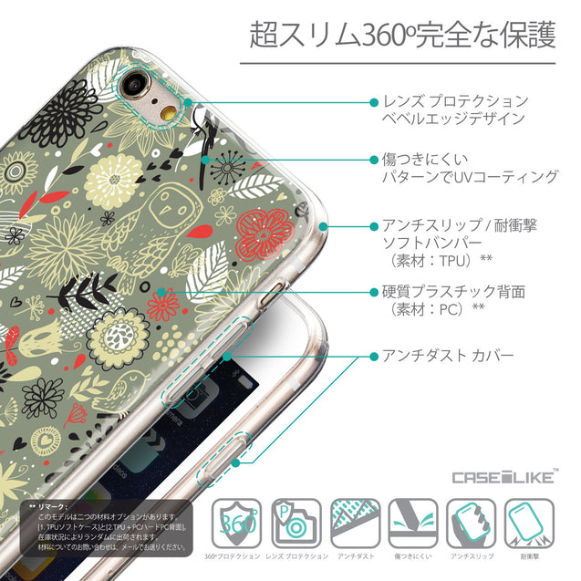 Details in Japanese - CASEiLIKE Apple iPhone 6 Plus back cover Spring Forest Gray 2243