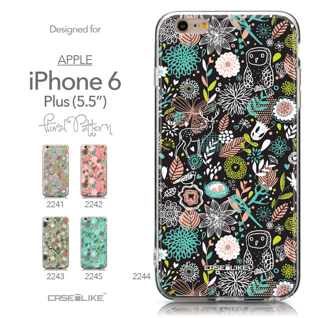 Collection - CASEiLIKE Apple iPhone 6 Plus back cover Spring Forest Black 2244