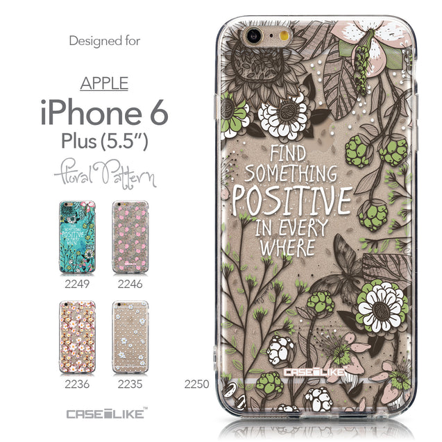 Collection - CASEiLIKE Apple iPhone 6S / 6 Plus back cover Blooming Flowers 2250