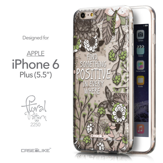 Front & Side View - CASEiLIKE Apple iPhone 6S / 6 Plus back cover Blooming Flowers 2250