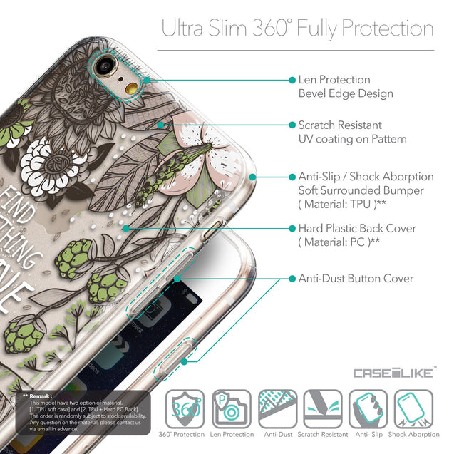 Details in English - CASEiLIKE Apple iPhone 6S / 6 Plus back cover Blooming Flowers 2250