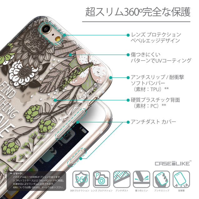 Details in Japanese - CASEiLIKE Apple iPhone 6S / 6 Plus back cover Blooming Flowers 2250