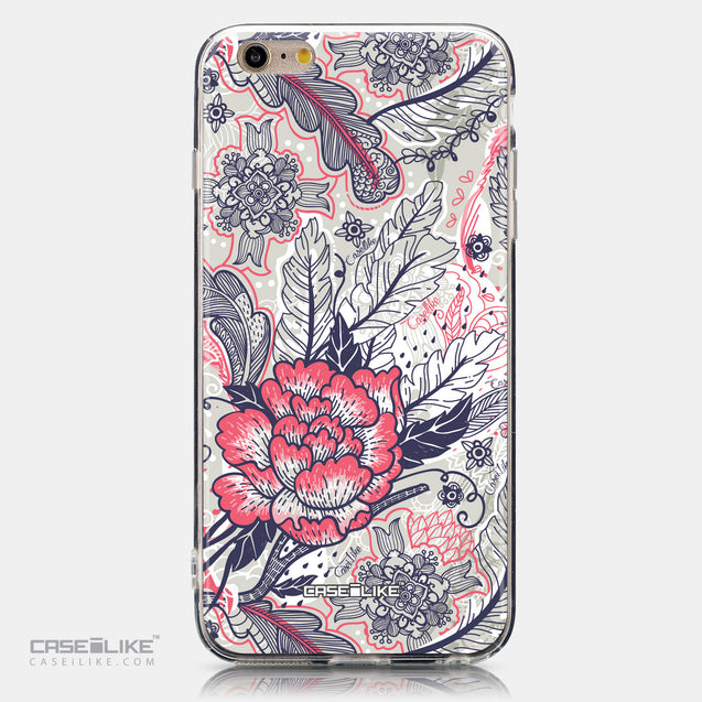 CASEiLIKE Apple iPhone 6 Plus back cover Vintage Roses and Feathers Beige 2251