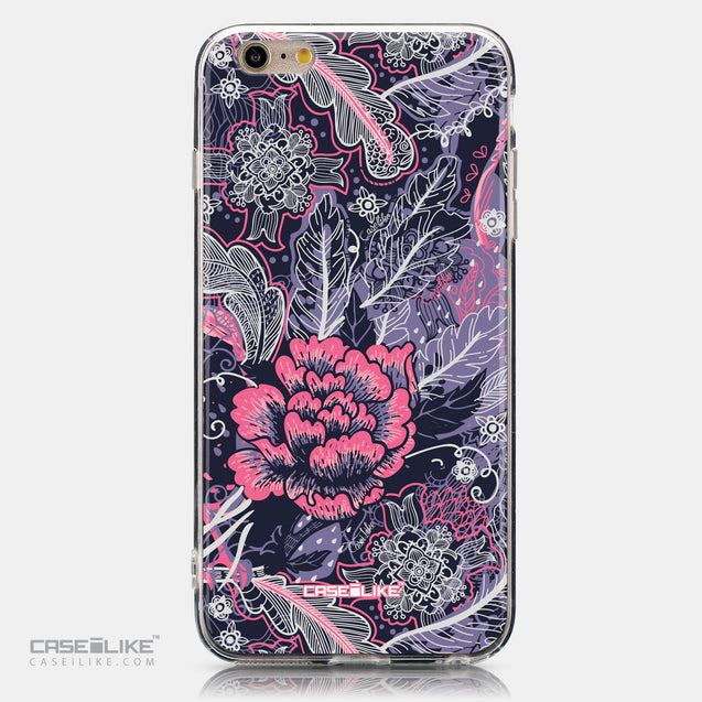 CASEiLIKE Apple iPhone 6 Plus back cover Vintage Roses and Feathers Blue 2252