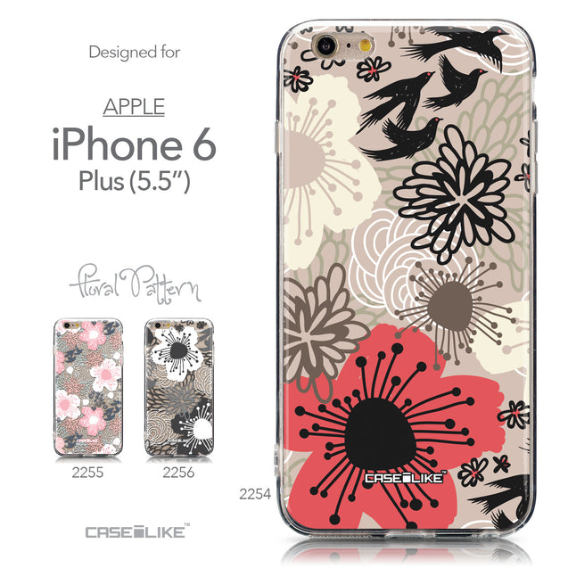 Collection - CASEiLIKE Apple iPhone 6 Plus back cover Japanese Floral 2254