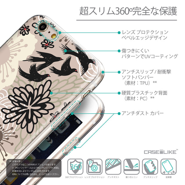 Details in Japanese - CASEiLIKE Apple iPhone 6 Plus back cover Japanese Floral 2254