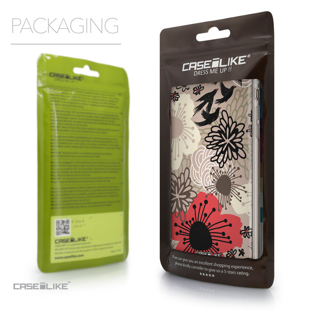 Packaging - CASEiLIKE Apple iPhone 6 Plus back cover Japanese Floral 2254