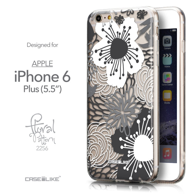 Front & Side View - CASEiLIKE Apple iPhone 6 Plus back cover Japanese Floral 2256