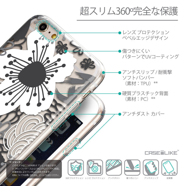 Details in Japanese - CASEiLIKE Apple iPhone 6 Plus back cover Japanese Floral 2256
