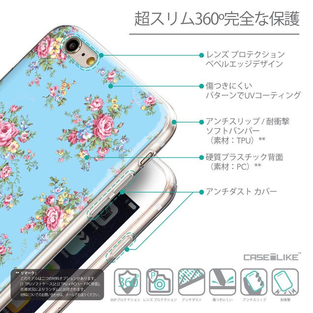 Details in Japanese - CASEiLIKE Apple iPhone 6 Plus back cover Floral Rose Classic 2263