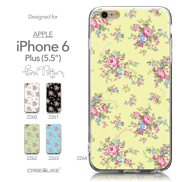 Collection - CASEiLIKE Apple iPhone 6 Plus back cover Floral Rose Classic 2264