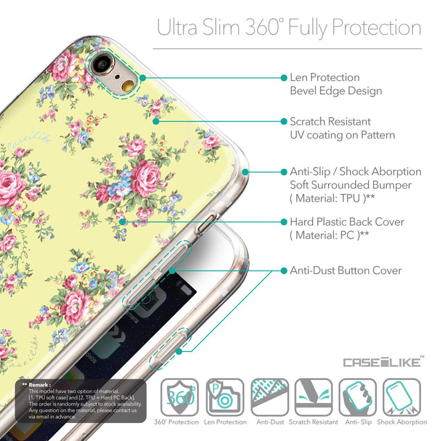 Details in English - CASEiLIKE Apple iPhone 6 Plus back cover Floral Rose Classic 2264