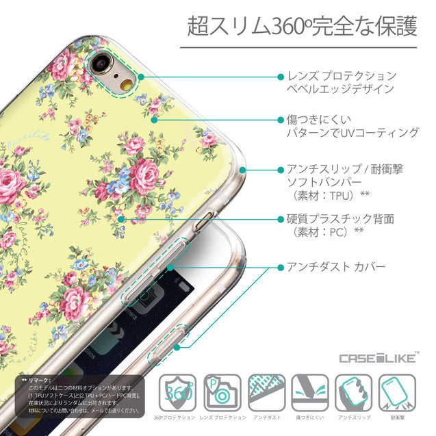 Details in Japanese - CASEiLIKE Apple iPhone 6 Plus back cover Floral Rose Classic 2264