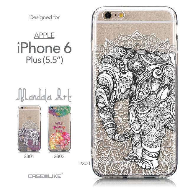 Collection - CASEiLIKE Apple iPhone 6 Plus back cover Mandala Art 2300