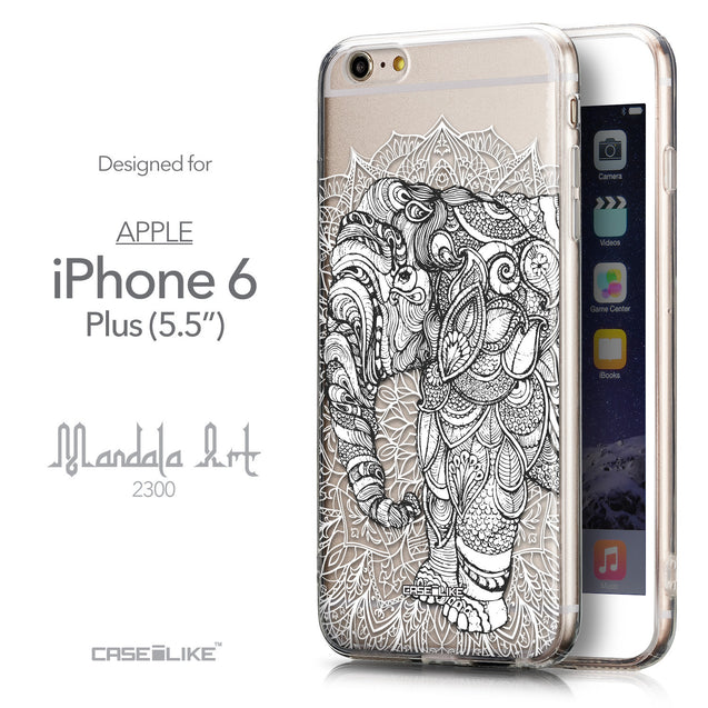 Front & Side View - CASEiLIKE Apple iPhone 6 Plus back cover Mandala Art 2300