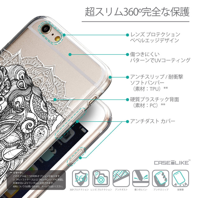 Details in Japanese - CASEiLIKE Apple iPhone 6 Plus back cover Mandala Art 2300
