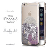 Front & Side View - CASEiLIKE Apple iPhone 6 Plus back cover Mandala Art 2301