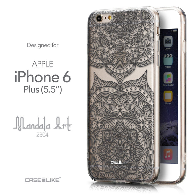 Front & Side View - CASEiLIKE Apple iPhone 6 Plus back cover Mandala Art 2304