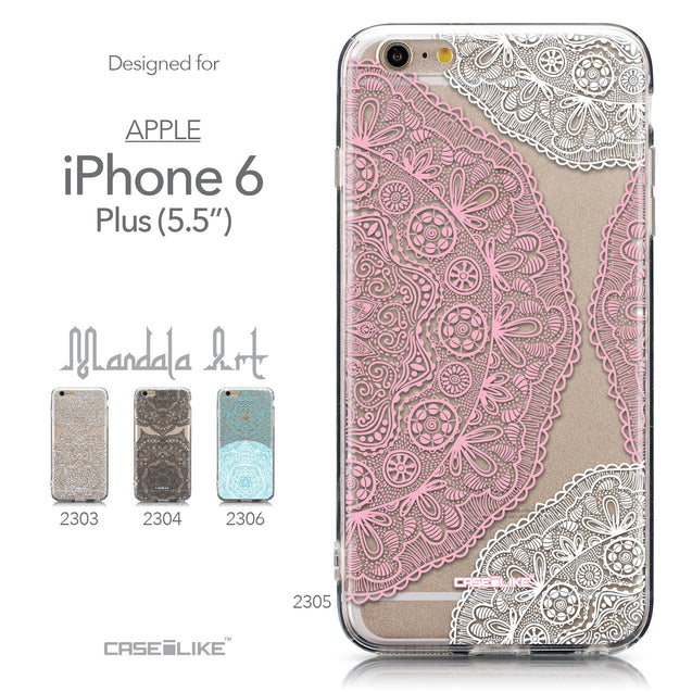 Collection - CASEiLIKE Apple iPhone 6 Plus back cover Mandala Art 2305