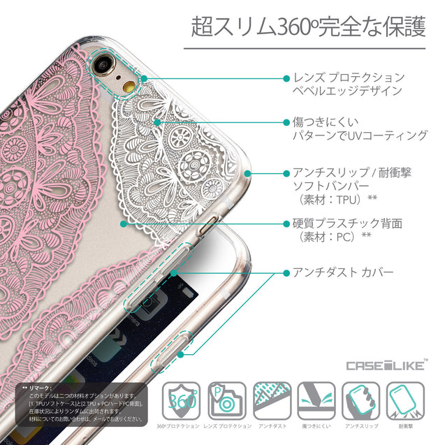 Details in Japanese - CASEiLIKE Apple iPhone 6 Plus back cover Mandala Art 2305