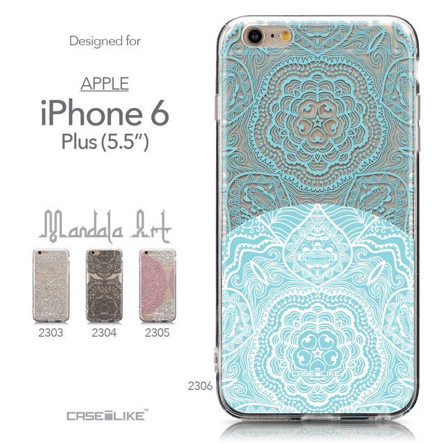 Collection - CASEiLIKE Apple iPhone 6 Plus back cover Mandala Art 2306